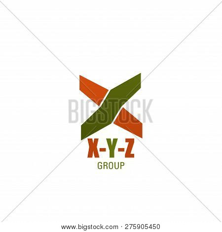 Letter X Y Z Icon For Business And Marketing Research And Finance Consulting Company. Vector Technol