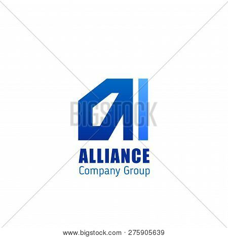 Alliance Company Group Vector Icon Isolated On A White Background. Concept Of Teamwork And Cooperati