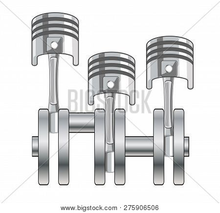 Vector Illustration Of The Car Gross And Piston
