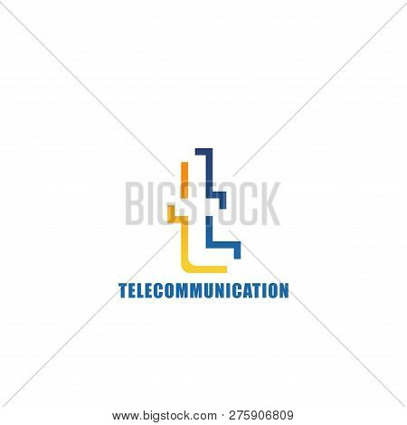 Letter T Icon For Telecommunication Or Mobile Provider Company Corporate Identity. Vector Innovation