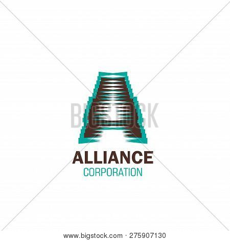 Alliance Corporation Vector Icon Isolated On A White Background. Concept Of Partnership And Teamwork
