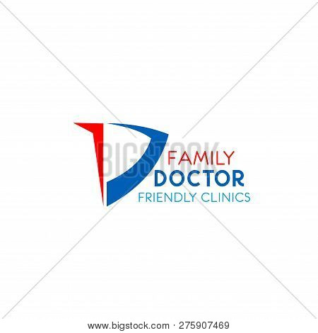 Family Doctor Friendly Clinic Vector Icon Isolated On A White Background. Concept Of Medicine And Fa
