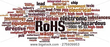 Rohs Word Cloud Concept. Vector Illustration On White