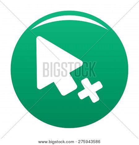 Cursor Failure Icon. Simple Illustration Of Cursor Failure Icon For Any Design Green