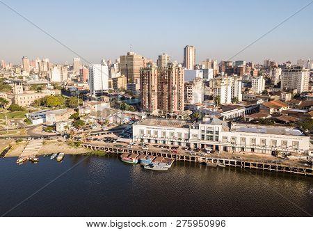 Asuncion, Paraguay - July 13, 2018: Panoramic View Of Skyscrapers Skyline Of Latin American Capital