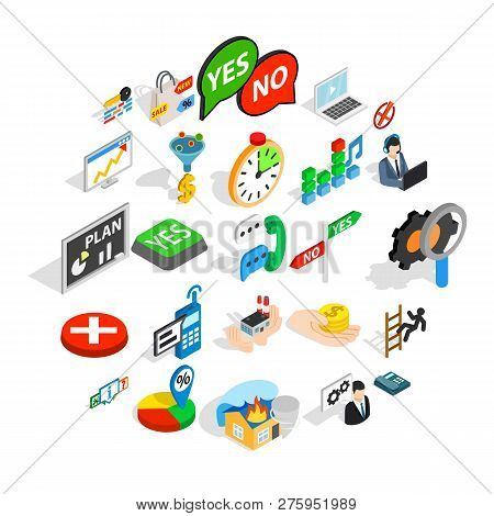 Occupation Icons Set. Isometric Set Of 25 Occupation Icons For Web Isolated On White Background