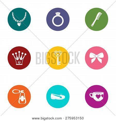 Embellishment Icons Set. Flat Set Of 9 Embellishment Icons For Web Isolated On White Background