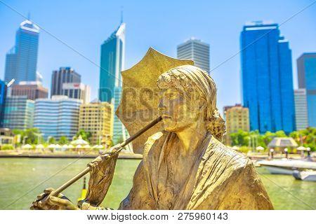 Perth, Western Australia - Jan 3, 2018: Bessie Rischbieth Statue By Artist Jon Tarry At Elizabeth Qu