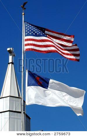 Cross Stands Behind America