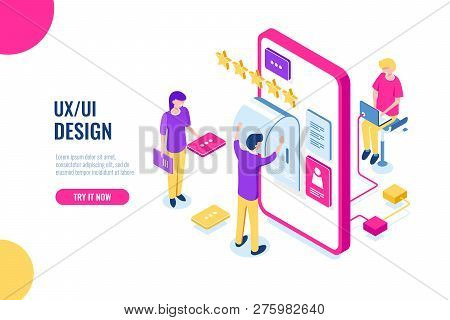 Ux Ui Design, Mobile Development Application, User Interface Building, Mobile Phone Screen, People W