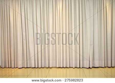 Clear Curtain For Room Decoration. Large Wall Curtain. Curtain For Hotel Presentations.