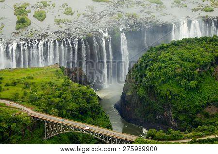 Victoria Falls - Zambia And Zimbabwe Border