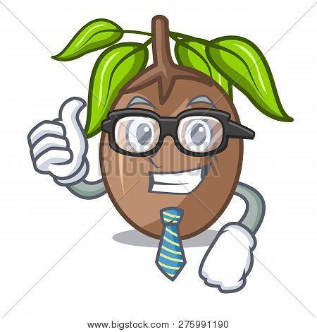 Businessman Sapodilla Fruit Isolated On The Mascot