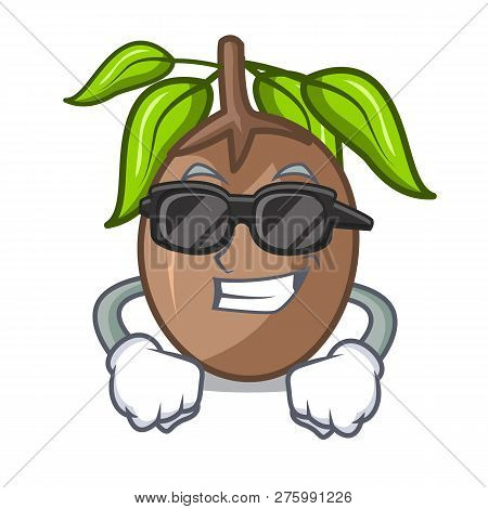 Super Cool Sapodilla Fruit Isolated On The Mascot