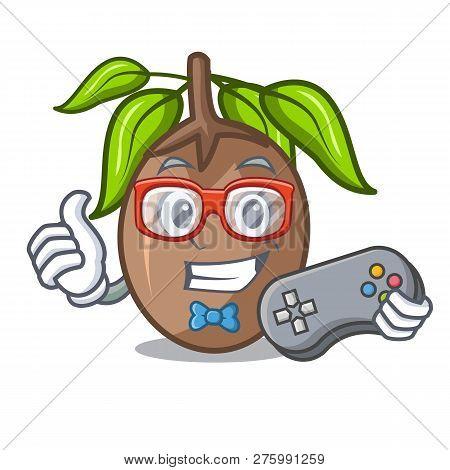 Gamer Sapodilla Fruit Cut In Shape Cartoon