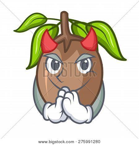 Devil Sapodilla Fruit Cut In Shape Cartoon