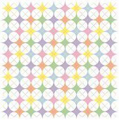 Illustration of pastel rainbow colored argyle stars pattern poster