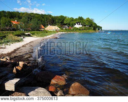 Beautiful Houses By The Beach Coast Funen Faaborg Denmark