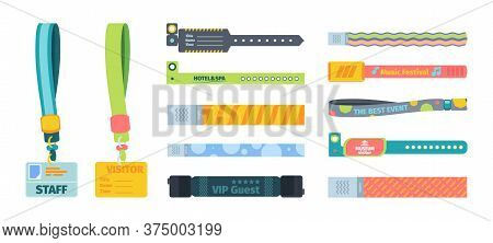 Control Bracelets Plastic Template Set. Silicone Bandages Colored Character Identification Events Mu