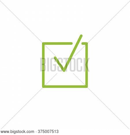 Illustration Of Check Mark Icon In Square, Tick Icon, Checkbox, Ok Sign. Stock Vector Illustration I