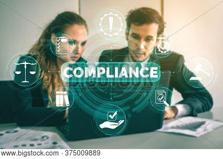 Compliance Rule Law And Regulation Graphic Interface For Business Quality Policy Planning To Meet In