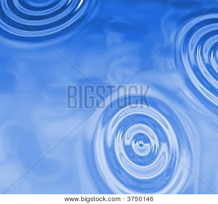 three water drops render abstract background blue poster