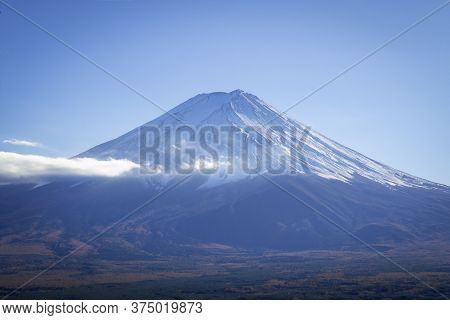 Clear View Of Mount Fuji Peak In The Late Afternoon Before Sunset, From Kawaguchiko Ropeway Trails I