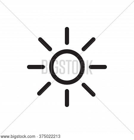 Sun Icon Isolated On White Background. Sun Icon In Trendy Design Style For Web Site And Mobile App.