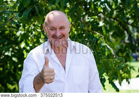 Mature Man Lifestyle, Older Man, Life After 50s, Lifestyle. Portrait Of European Or American Senior