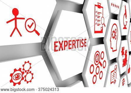 Expertise Concept Cell Background 3d Render Illustration