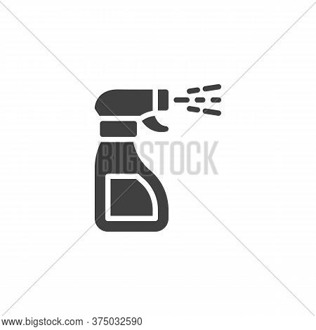 Antibacterial Spray Vector Icon. Disinfectant Bottle Filled Flat Sign For Mobile Concept And Web Des