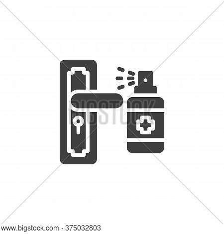 Disinfect Door Handle Vector Icon. Filled Flat Sign For Mobile Concept And Web Design. Door Handle A