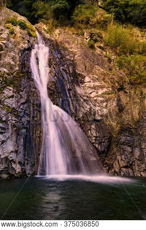 Nunobiki Waterfalls On The Slopes Of Mount Rokko In Kobe, Hyogo Prefecture In Japan