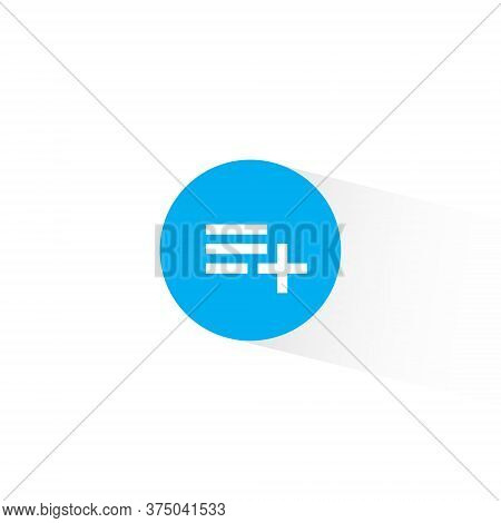Add To Playlist Icon Vector In Trendy Flat Style. Save List Symbol Illustration
