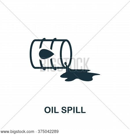 Oil Spill Icon. Simple Element From Global Warming Collection. Creative Oil Spill Icon For Web Desig
