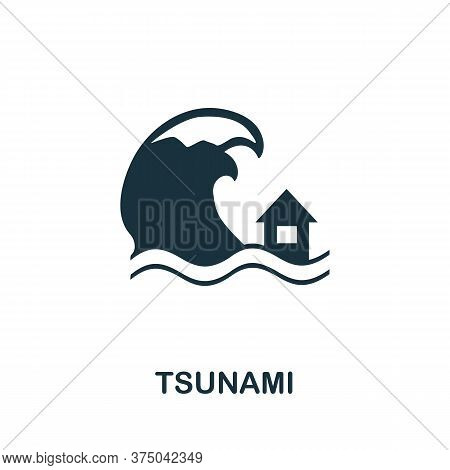 Tsunami Icon. Simple Element From Global Warming Collection. Creative Tsunami Icon For Web Design, T