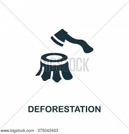 Deforestation Icon. Simple Element From Global Warming Collection. Creative Deforestation Icon For W