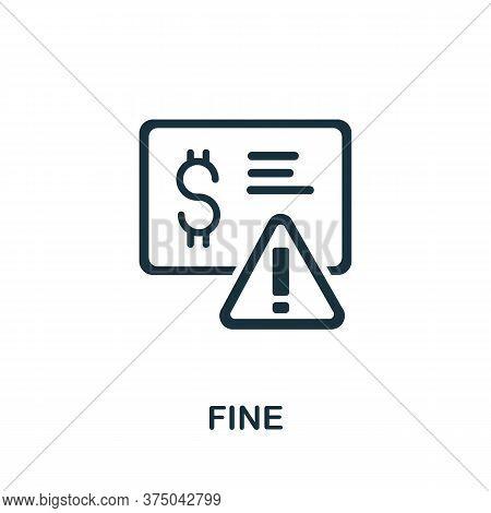 Fine Icon. Simple Element From Crisis Collection. Creative Fine Icon For Web Design, Templates, Info