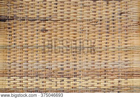 Rattan Texture, Handcraft Woven Wicker Rattan Pattern Background