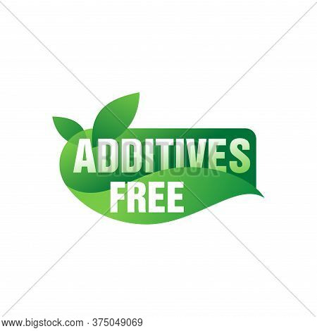 Additives Free Sticker (stamp) For Healhty Eco-friendly Organic Products Designation - Isolated Icon
