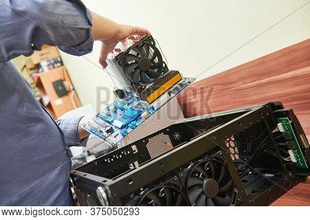 Computer maintenance and warranty repair service. Upgrade desktop components