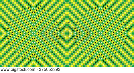 Distortion Dynamic Effect. Optical Illusions Image Moving. Pulsating Background - Optical Illusion.