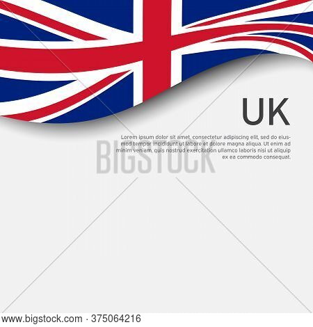 Great Britain Flag On A White Background. National Poster Of The United Kingdom. Great Britain State
