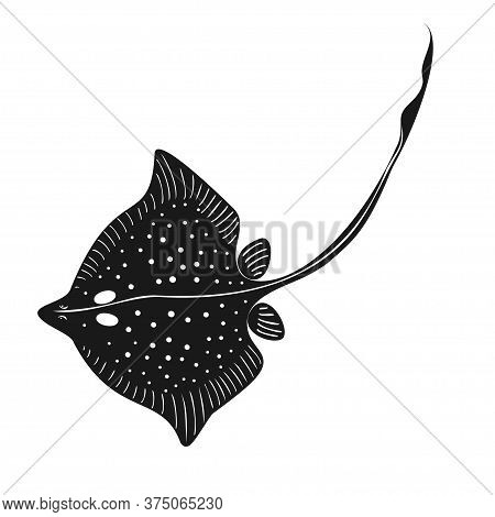 Vector Stingray Fish With Spots On White Background
