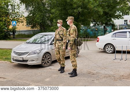 Perm, Russia - July 01, 2020: Cadets Of The Russian Guard (special Forces Of The Internal Troops Of