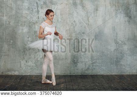 Modern Ballet, Great Design For Any Purposes. Ballet Dancer Ballerina. Balance Training. Classical C