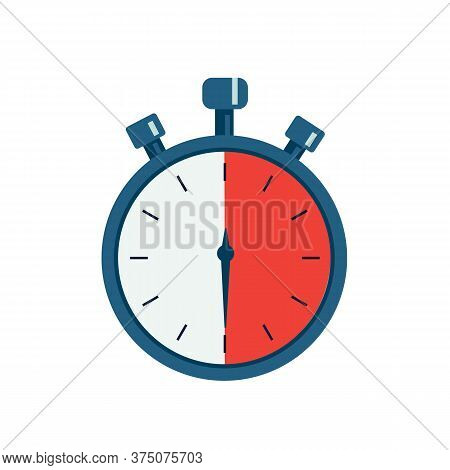 Chronometer Timer Isolated On White Background. Timer Icon. Vector Stock