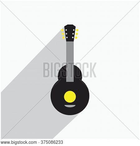 Acoustic Nylon Guitar Illustrations Symbol Or Icon
