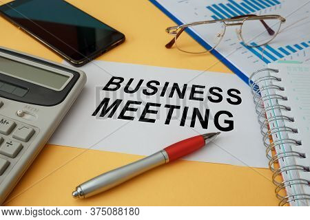 Workspace Office Desk - Photo On Top Of Workspace Card With Text Business Meeting