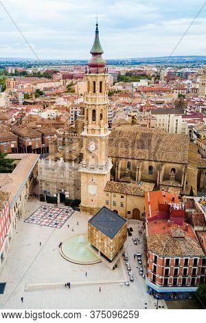 Cathedral Of The Savior Of Zaragoza Or Catedral Del Salvador Is A Roman Catholic Church In Zaragoza,